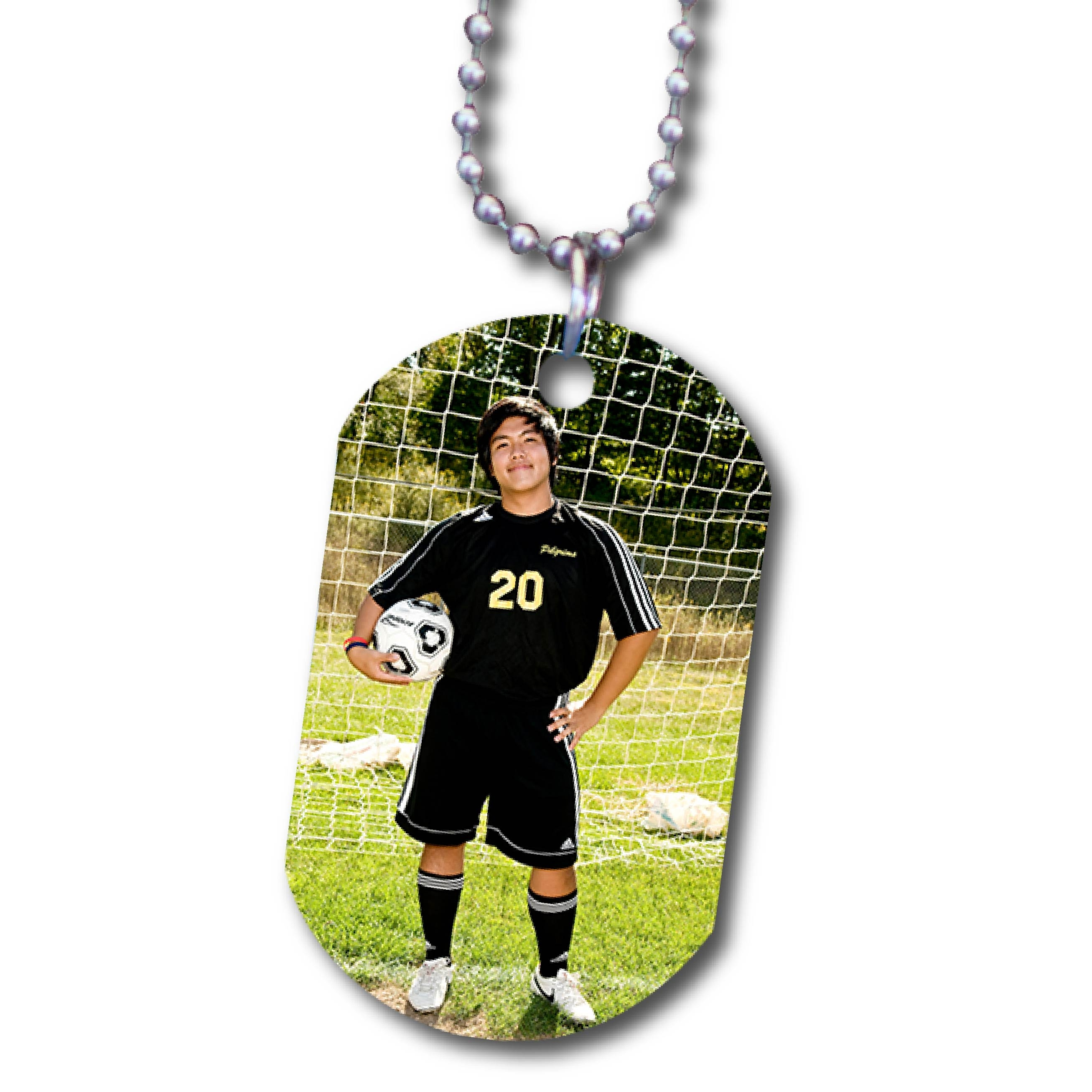 Soccer Player Printed on Dog Tag