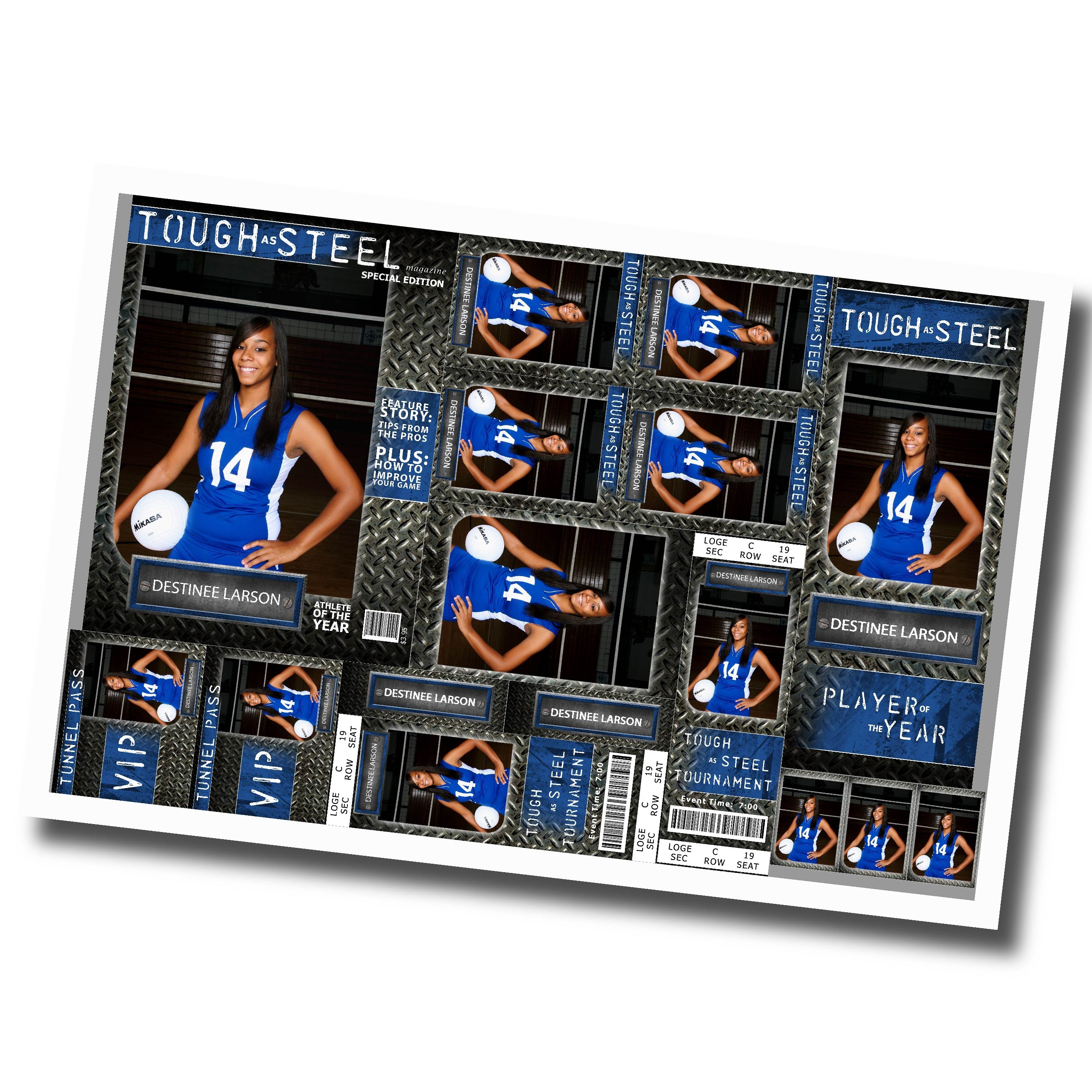 High Impact Blue Volleyball Fun Packs