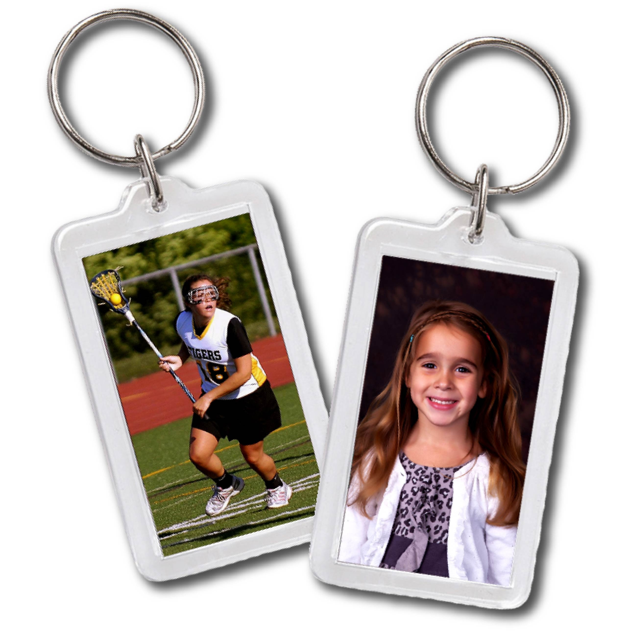 Lacrosse Player & Kindergarten School Photo in Key Chains