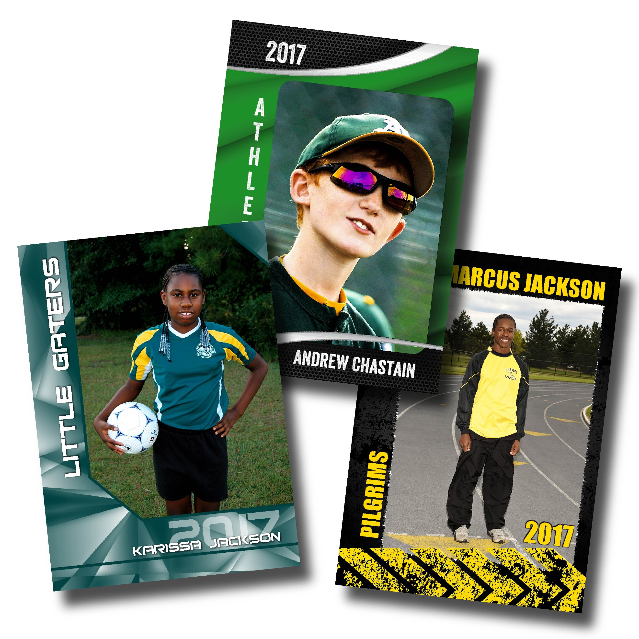 Striker Green, Brilliance Teal & Hazardous Designs Printed on Magnets