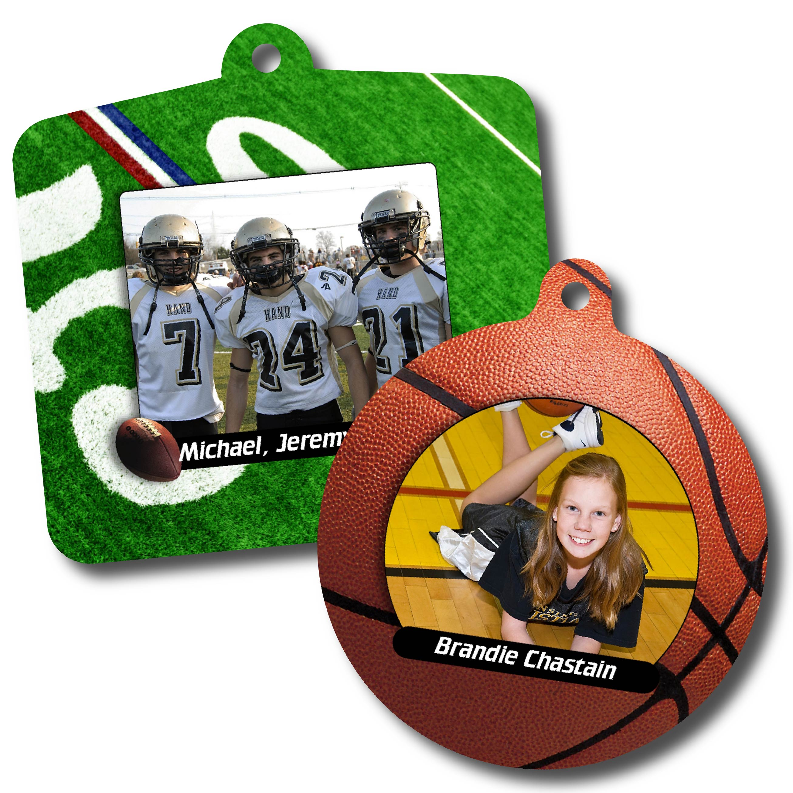 Football & Basketball Personalized Sport Metal Ornaments