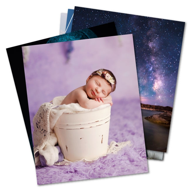 Free photographic test prints in luster, metallic or deep matte