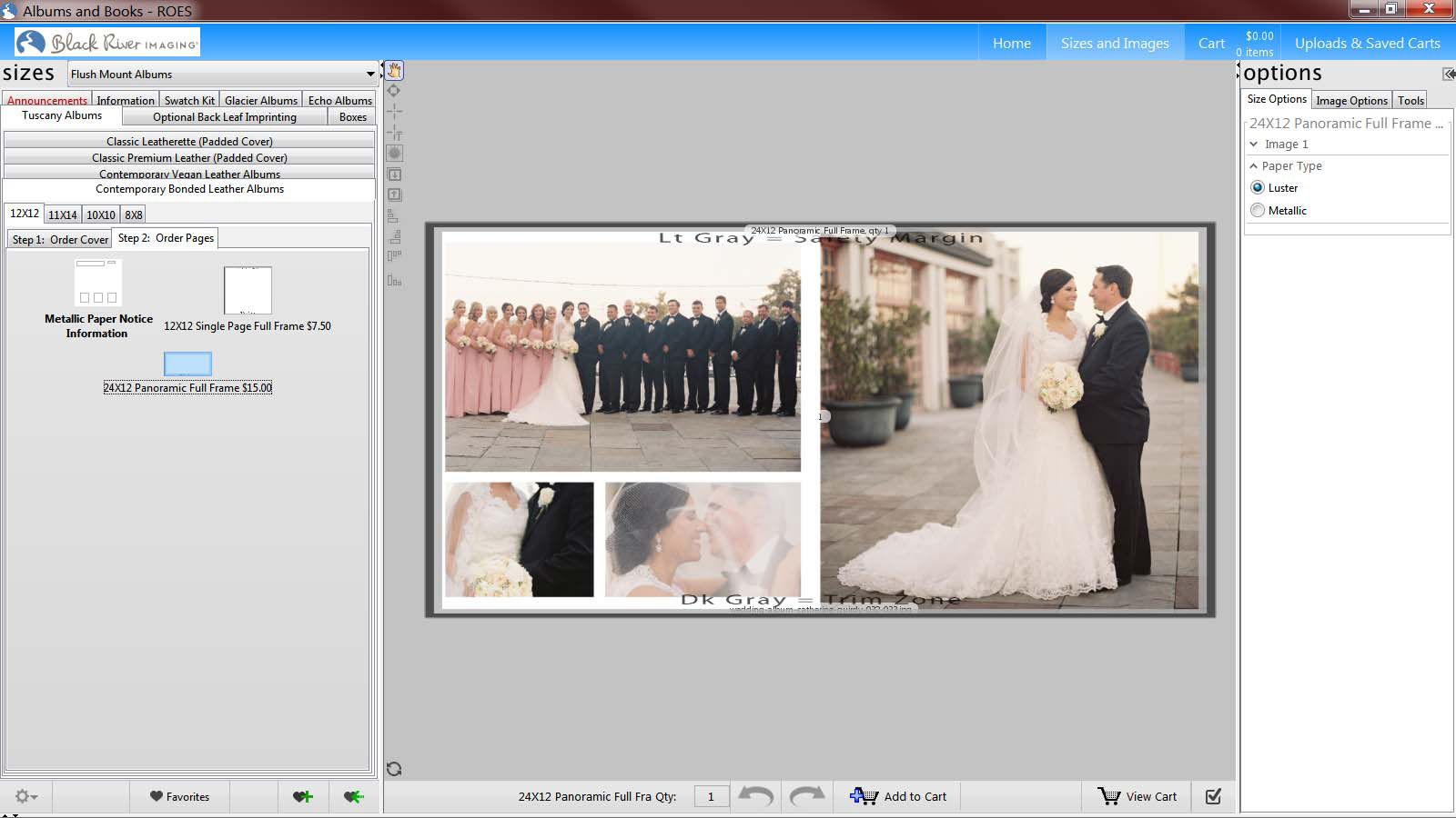 Ordering Wedding Album in ROES Albums & Books Software